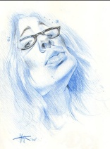 Blue Pencil Caricature